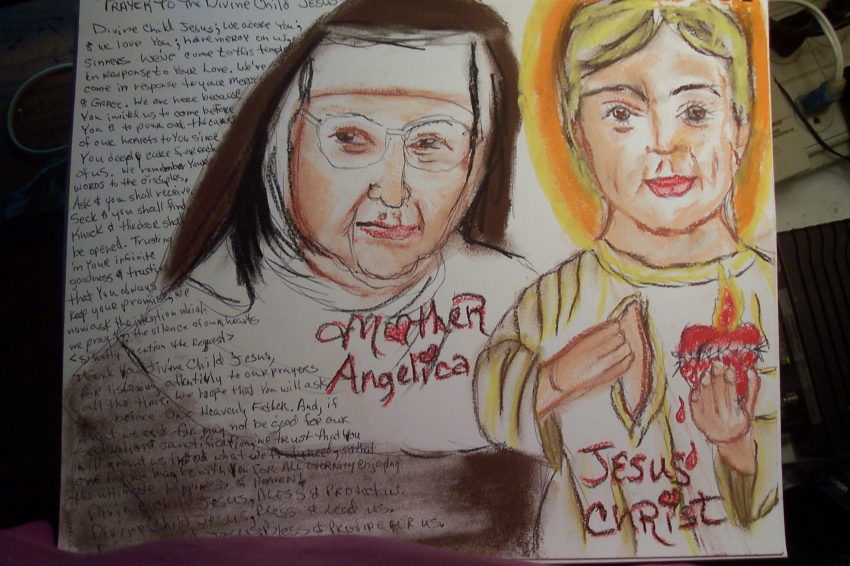 Mother Angelica, Jesus Christ by cindykron